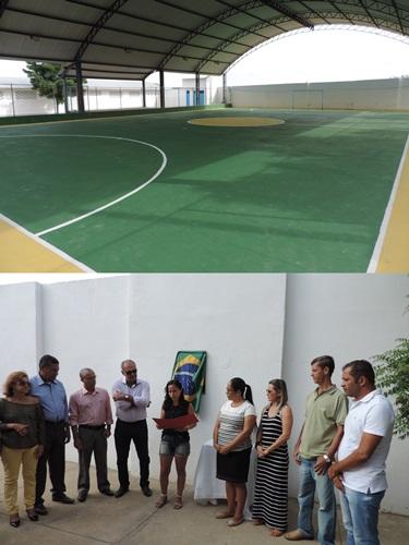 Inauguração da Quadra Poliesportiva em Lagoa Funda. Foto: Nildo Freitas/Brumado Verdade