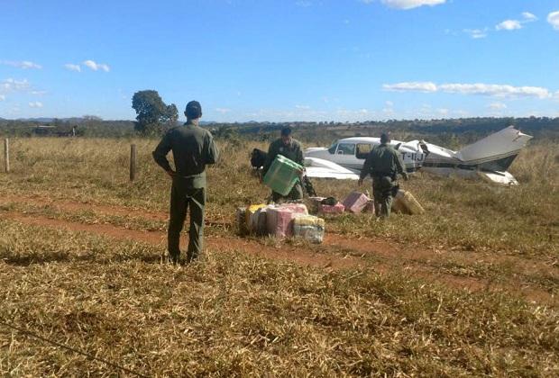 O avião decolou da Fazenda Itamarati Norte, no município de Campo Novo do Parecis (MT) com destino a Santo Antonio Leverger (MT). Foto: Divulgação