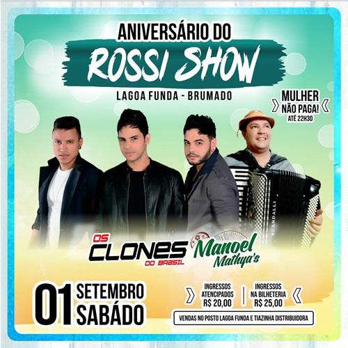 b70b8adb1 Brumado: Aniversário do Rossi Show com os Clones — Brumado ...